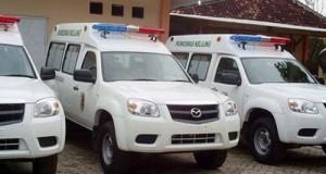 ilustrasi mobil ambulance.