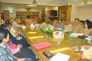 Sekprov SR Mokodongan bersama Biro Pemerintahan dan Humas derta BKD bertemu dengan para pimpinan empat DOB.