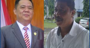 Ketua DPRD Kota Bitung J Supit dan Ketua Komisi A Viktor tatanude