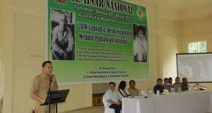 Seminar Nasional yang digelar Pemkot Tomohon bertempat di aula rumah dinas Walikota Tomohon.