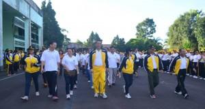salah satu kegiatan dalam rang memperingati HUT Kota Tomohon.