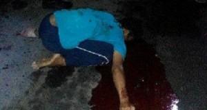 Jusuf Antara, Korban penusukan di Pasar babo, Bailang, Manado.