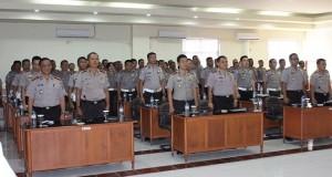 Suasana Rakernis Lantas di Mapolda Sulut, Rabu (22/4)