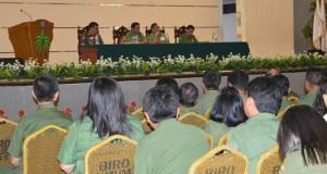 Rapat koordinasi untuk memperketat penjagaan keamanan di Kantor Gubernur Sulut, Senin (27/4)