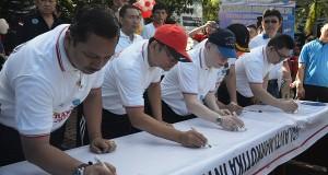 Kegiatan memperingati Hari Anti Narkoba Nasional di Provinsi Sulut, sabtu (13/6).