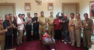 Gubernur, Wagub, Ketua DPRD Sulut, Kapolda Sulut, Wakil Ketua DPRD Sulut, perwakilan ormas dan SKPD