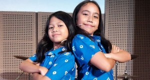 Jakarta Movement of Inspiration, also known as JKTMOVEIN, has cast 11-year-old Caecillia Laura (right) and 10-year-old Maisha 'Mimi' Kanna (left) in the lead role Sherina in the musical theater. (JP/Liza Yosephine)
