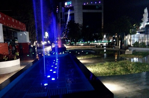 Dancing Fountain di Taman Kesatuan Bangsa (TKB) Pusat Kota 45