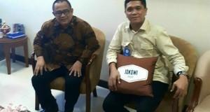 Special Staff of the President Republic of Indonesia, Ari Dwipayana and TFS Coordinator, Taufik M Tumbelaka in Staff Room of the President Republic Indonesia.