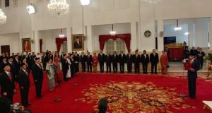 Presiden Joko Widodo Lantik 17 Dubes di Istana, Selasa (20/2/2018)