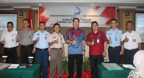 Wagub Drs Steven OE Kandouw bersama perwakilan lintas sektor terkait Pariwisata