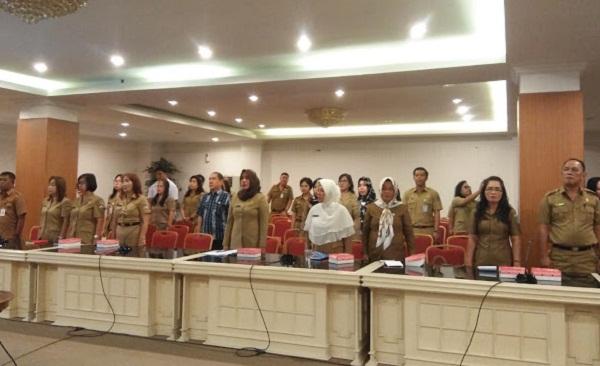 Para peserta Rakor Kependudukan dari Kabupaten dan Kota se-Sulut
