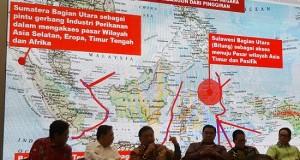 Gubernur Sulut Olly DOndokambey SE saat menyampaikan pemikiran terkait pembangunan dunia Kelautan dan Perikanan di Indonesia, termasuk di SUlut, Rabu (14/11/2018)