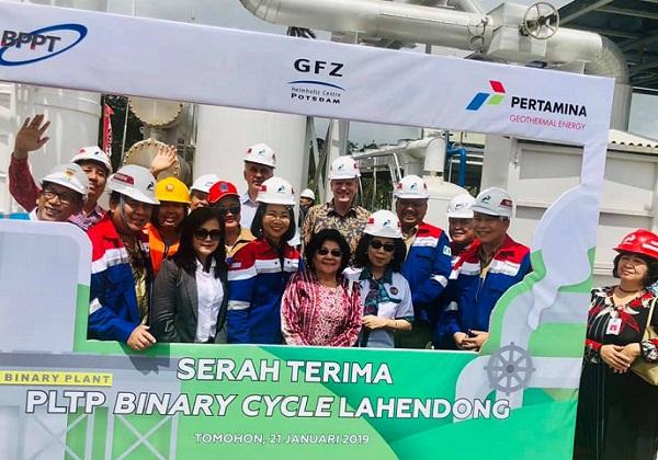 Foto bersama Gubernur Sulut, Pemerintah Jerman, Pemerintah Indonesia, Staf Pertamina, Staf PLN dan petinggi Perguruan Tinggi di Sulut