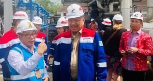 Gubernur Olly Dondokambey SE saat memantau area Panas Bumi Geotermal Lahendong