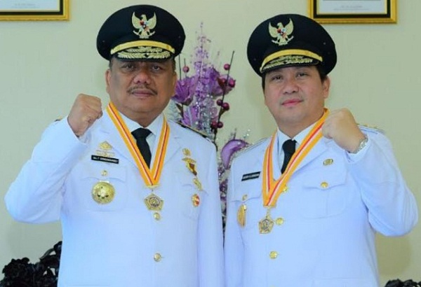 Gubernur Olly Dondokambey SE dan Wagub Drs Steven OE Kandouw (ODSK)