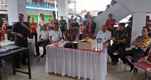 Sekretaris Kabupaten Jeffry Korengkeng SH MSi saat menyampaikan sambutan mewakili Bupati Ir Royke Roring MSi, Jumat (15/02/2019)