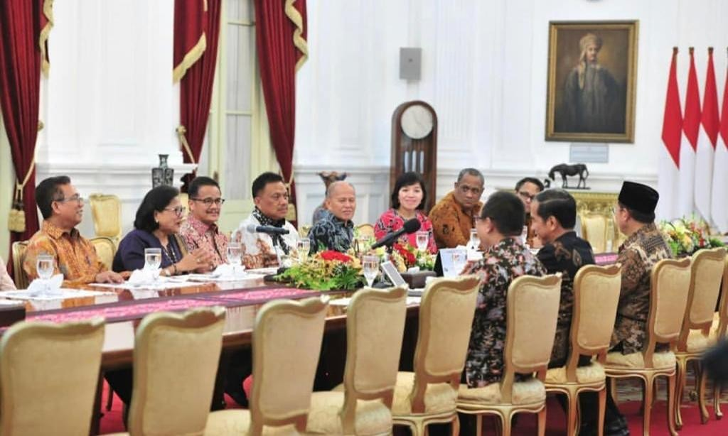 Suasana keakraban Kepala Negara bersama rombongan PGI