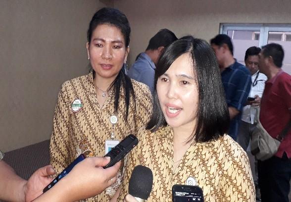 Angka Pelealu, PPS KC Manado saat memberi keterangan kepada wartawan, Selasa (16/04/2019)