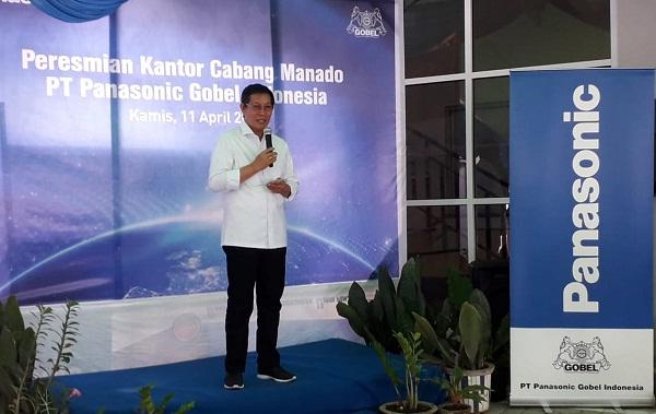 Dr Ir GSV Lumentut SH DEA, Walikota Manado saat menyampaikan sambutan