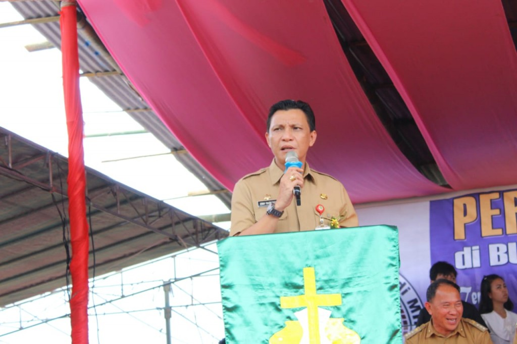 Jemmy Ringkuangan, mewakili Gubernur Sulut