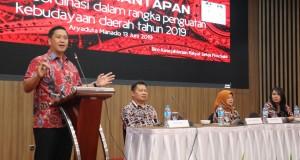 Wakil Gubernur Sulut Drs Steven OE Kandouw saat membawakan sambutan, Kamis (13/06/2019)