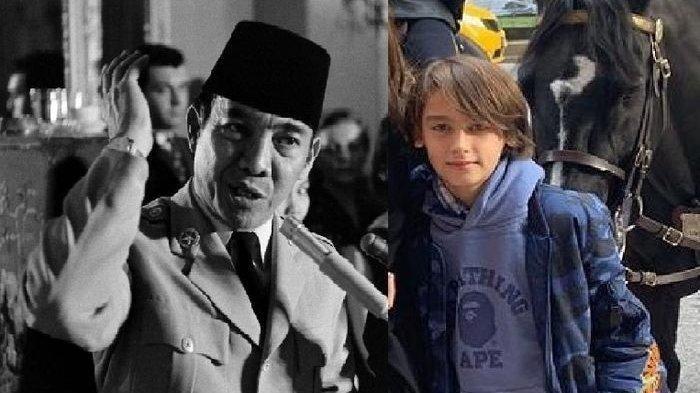 Presiden Soekarno dan sang Cucu Frederick Kiran Soekarno Seegers