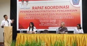 Wakil Gubernur Sulut Drs Steven OE Kandouw saat menyampaikan sambutan terkait masalah Kesehatan Masyarakat, Rabu (14/08/2019)