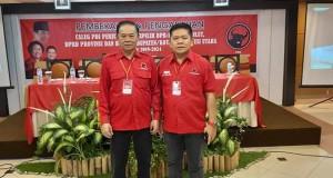 Foto Berty Kapojos Caleg DPRD Sulut Terpili bersama Denny Lolong Saat mengikuti Pembekalan