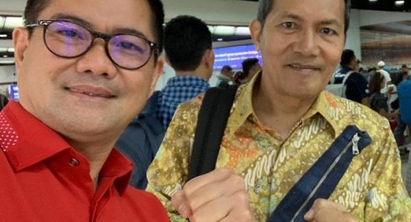 Joune Ganda Bersama Wakil Ketua KPK RI Saut Situmorang, Selasa (10/09/2019)