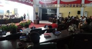 Rapat Penetapan Fraksi di Ruang Sidang DPRD Minut