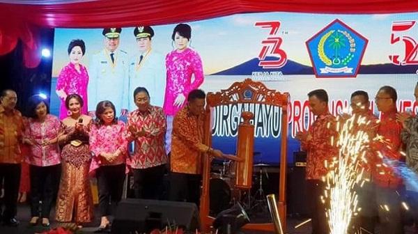 Gubernur Olly Dondokambey SE saat membuka SULUT EXPO 2018 di Lokasi Pameran Kayuwatu Manado waktu silam