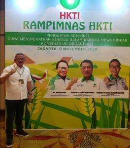 Wakil Bupati Ir. Joppi Lengkong M.Si saat menghadiri Rapimnas HKTI di Jakarta.