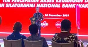 Presiden Joko Widodo saat menyampaikan sambutan di Rakornas TPAKD, Selasa (10/12/2019)