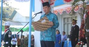 Wakil Gubernur Sulut Drs Steven OE Kandouw saat menyampaikan pesan Menko Bidang Perekonomian, Jumat (20/12/2019)