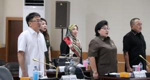 Rapat Dengar Pendapat bersama Jajaran Polda Sulawesi Utara, di aula Tribrata Mapolda Sulut