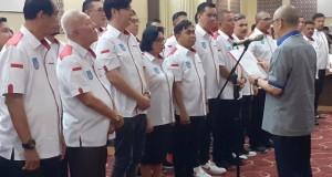 Pengukuhan dan Pelantikan jajaran Pengurus Provinsi PERBASI Sulut Periode 2019 - 2024 oleh Ketua Umum Pengurus Pusat PERBASI Danny Kosasih, Sabtu (08/02/2020) malam.