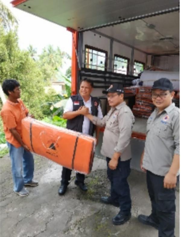 Penyiapan sarana dan prasarana untuk mengevakuasi warga di sekitar Gunung Api Karangetang