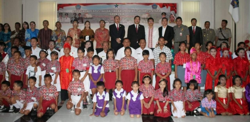 Launching Program Gemar Budaya Membaca oleh Wagub Drs Steven OE Kandouw di Kabupaten SITARO