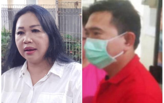 Anggota DPRD Sulut Sandra Rondonuwu dan Rocky Wowor