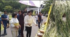 Kegiatan Pawai Pangan yang digelar sebelumnya di areal perkantoran Bupati Minut.