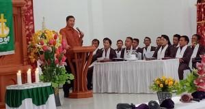 Wakil Gubernur Sulut Drs Steven OE Kandouw saat membawakan sambutan, Minggu (23/02/2020)