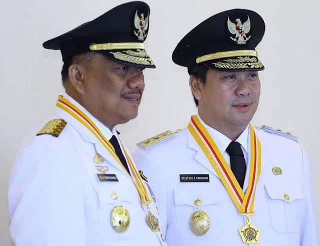 OLLY DONDOKAMBEY SE DAN STEVEN OE KANDOUW, Gubernur dan Wakil Gubernur Sulut