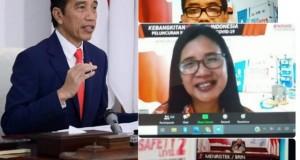 Presiden Joko Widodo resmi meluncurkan produk riset Disinfektan dari Universitas Sam Ratulangi Manado, Rabu (20/05/2020) lalu