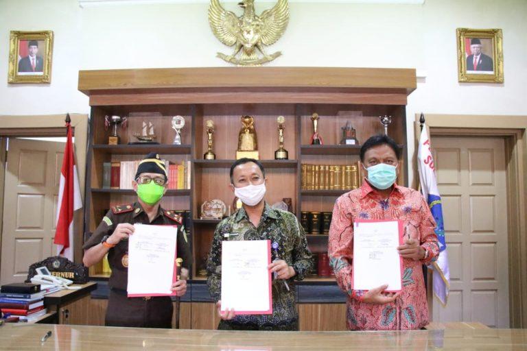Tiga Pimpinan Lembaga di Sulut ini sepakat Kawal Dana Covid-19