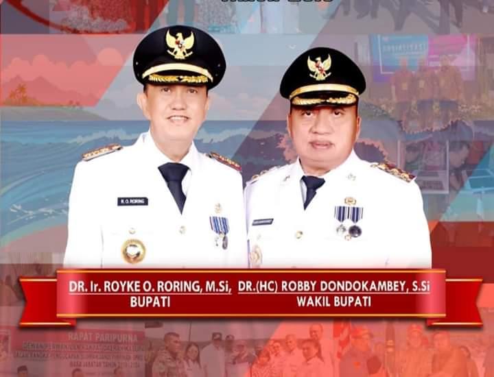 DR IR ROYKE O RORING MSI DAN DR ROBBY DONDOKAMBEY SSI, Bupati dan Wakil Bupati Kabupaten Minahasa