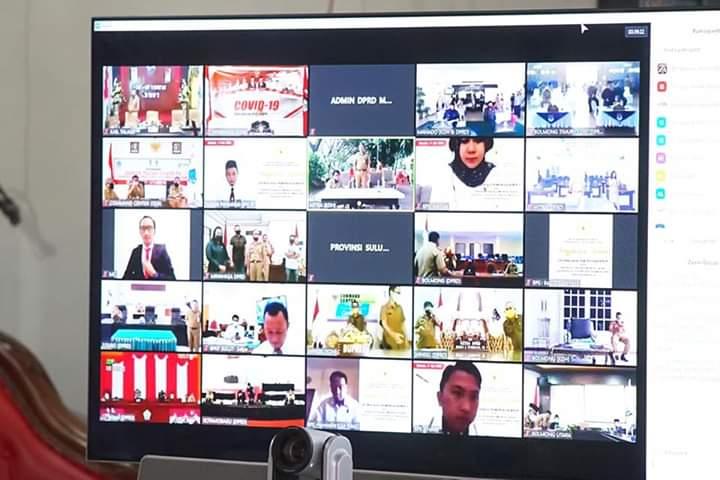 Video Conference terkait penyampaian LHP BPK RI atas LKPD Provinsi, Kabupaten dan Kota se-Sulut