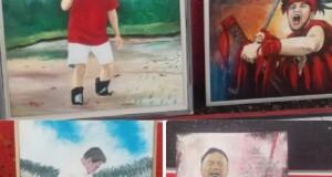 Beberapa lukisan yang sudah masuk dalam persiapan