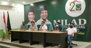Konfrensi Pers DPP Partai Bulan Bintang terkait Pilkada Minahasa Utara yang dihadiri oleh Ketua PBB Provinsi Sulut