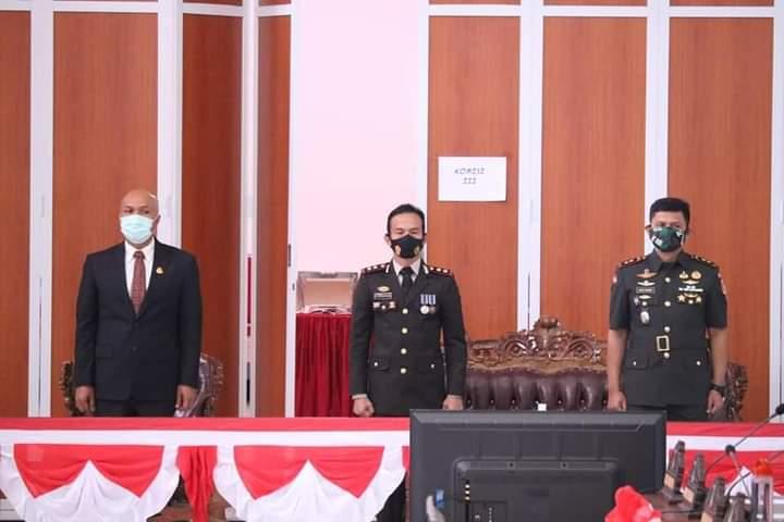 Forkopimda Kabupaten Minahasa ikuti Rapat Paripurna Istimewa DPRD Kabupaten Minahasa